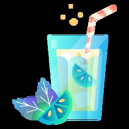 Ilustração de bebida de limão