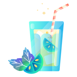 Lemon drink illustration
