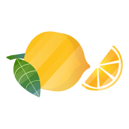 Lemon slice illustration