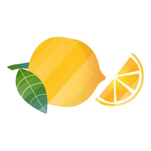 Ilustración de rodaja de limón