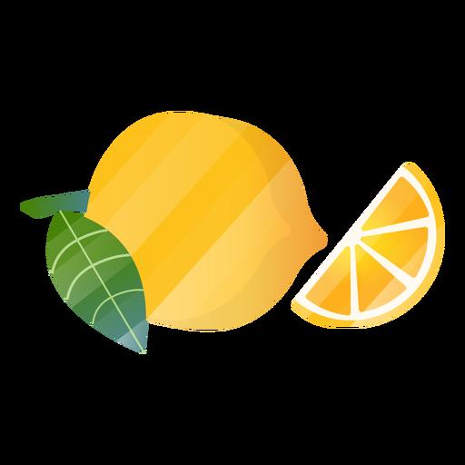 Zitronenscheibenillustration