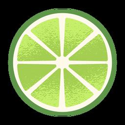 Zitronenscheibe oben