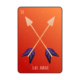 Cartão de flechas Loteria