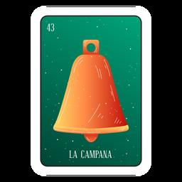 Cartão de sino Loteria