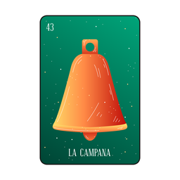 Loteria bell card
