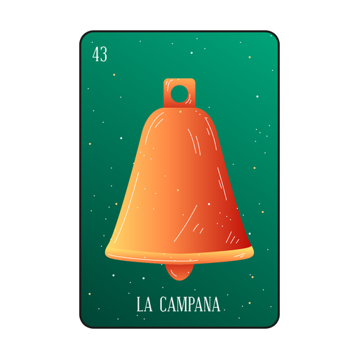 Loteria bell card Transparent PNG