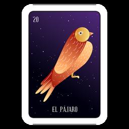 Cartão pássaro loteria