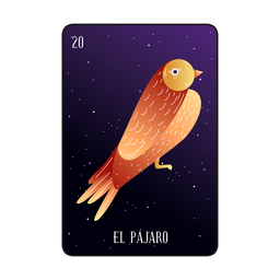 Loteria bird card