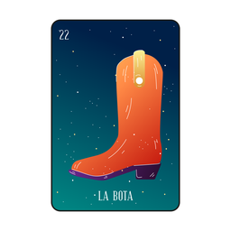 Loteria-Stiefelkarte