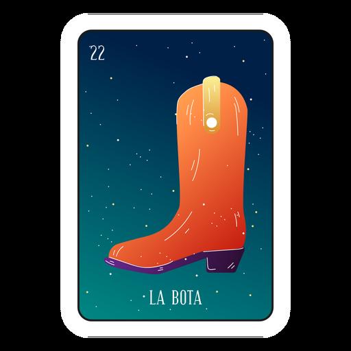 Cartão de bota loteria