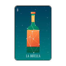 Loteria bottle card