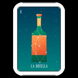 Loteria garrafa cartão