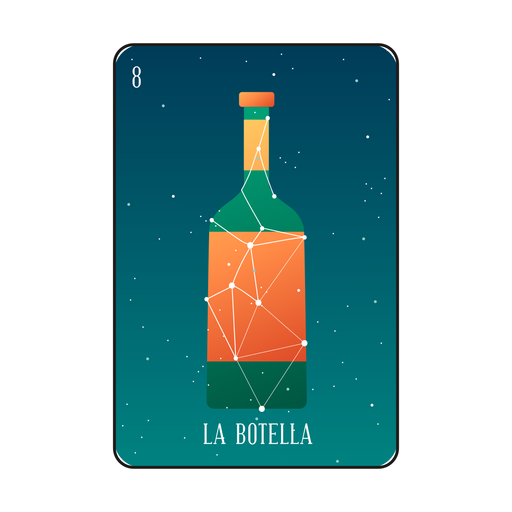 Loteria bottle card Transparent PNG