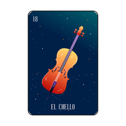 Loteria cello card