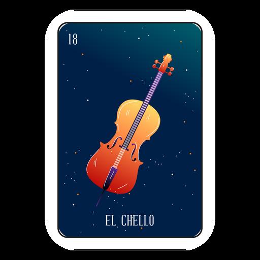 Cartão de violoncelo loteria