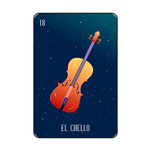 Loteria cello card Transparent PNG