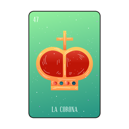Loteria crown card