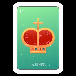 Tarjeta de la corona de Loteria