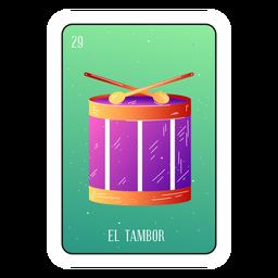 Tarjeta de tambores de loteria