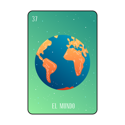 Tarjeta Loteria Earth