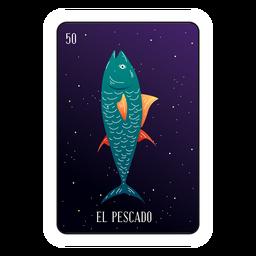 Cartão de peixes Loteria