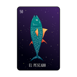 Tarjeta de pescado de Loteria