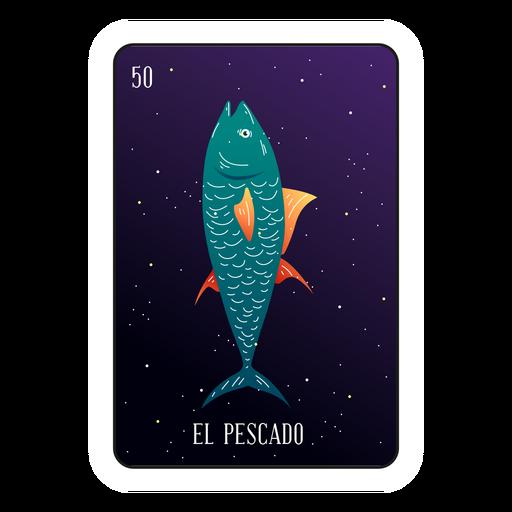 Loteria fish card Transparent PNG