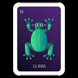 Cartão de sapo Loteria