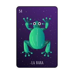 Loteria frog card
