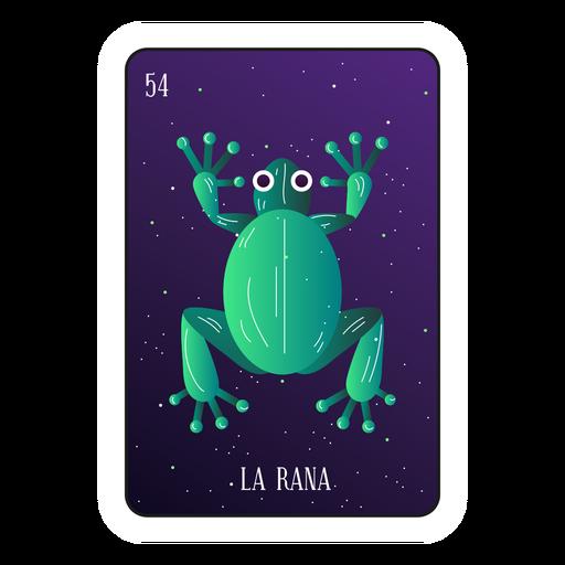 Tarjeta de Loteria Frog Transparent PNG