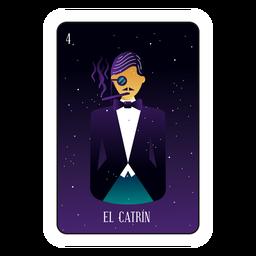 Loteria gentleman card