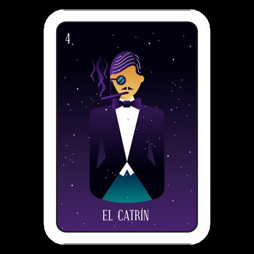 Loteria gentleman card Transparent PNG