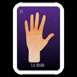 Cartão de mão Loteria