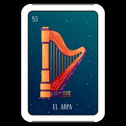 Cartão de harpa Loteria