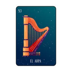 Loteria harpa card