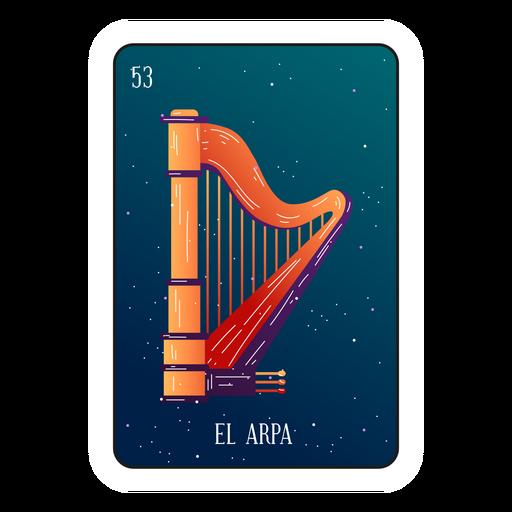 Loteria harp card Transparent PNG
