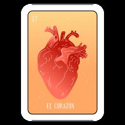 Tarjeta de corazón de loteria