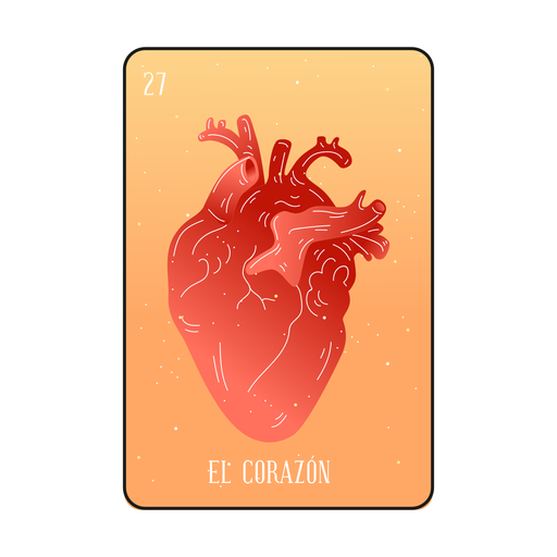 Loteria heart card Transparent PNG