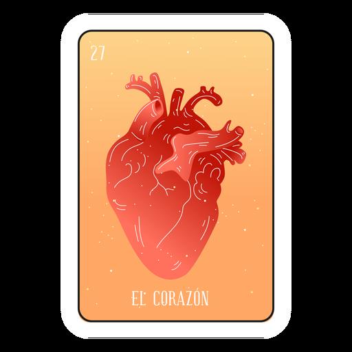 Tarjeta de loteria corazón