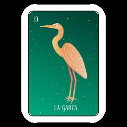 Cartão da garça-real de Loteria