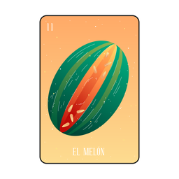 Tarjeta de loteria melon