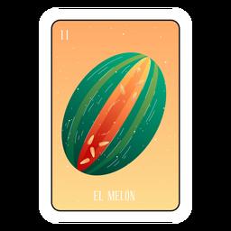 Tarjeta de melón Loteria