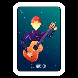 Cartão de músico Loteria