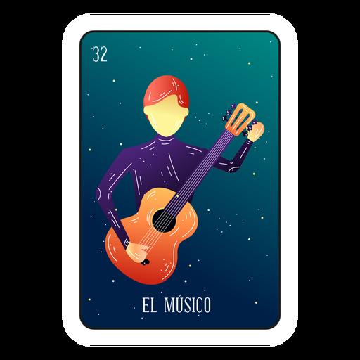 Loteria musician card Transparent PNG