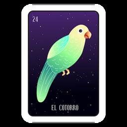 Cartão papagaio loteria