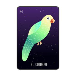 Loteria parrot card