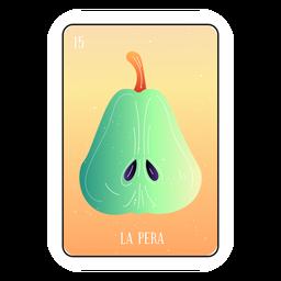 Loteria pear card