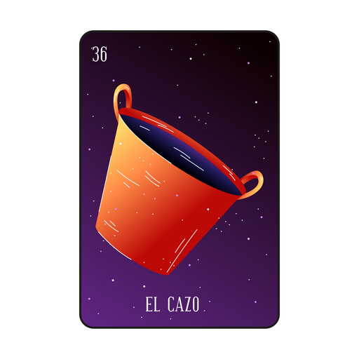 Loteria pot card Transparent PNG
