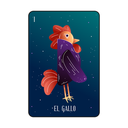 Loteria rooster card