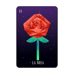 Loteria rosa cartão